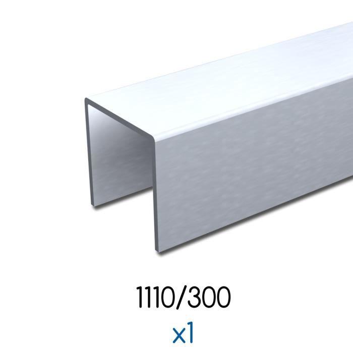 Profil u 3 m 30x30 mm acier galvanis achat vente for Porte en acier pour cabanon