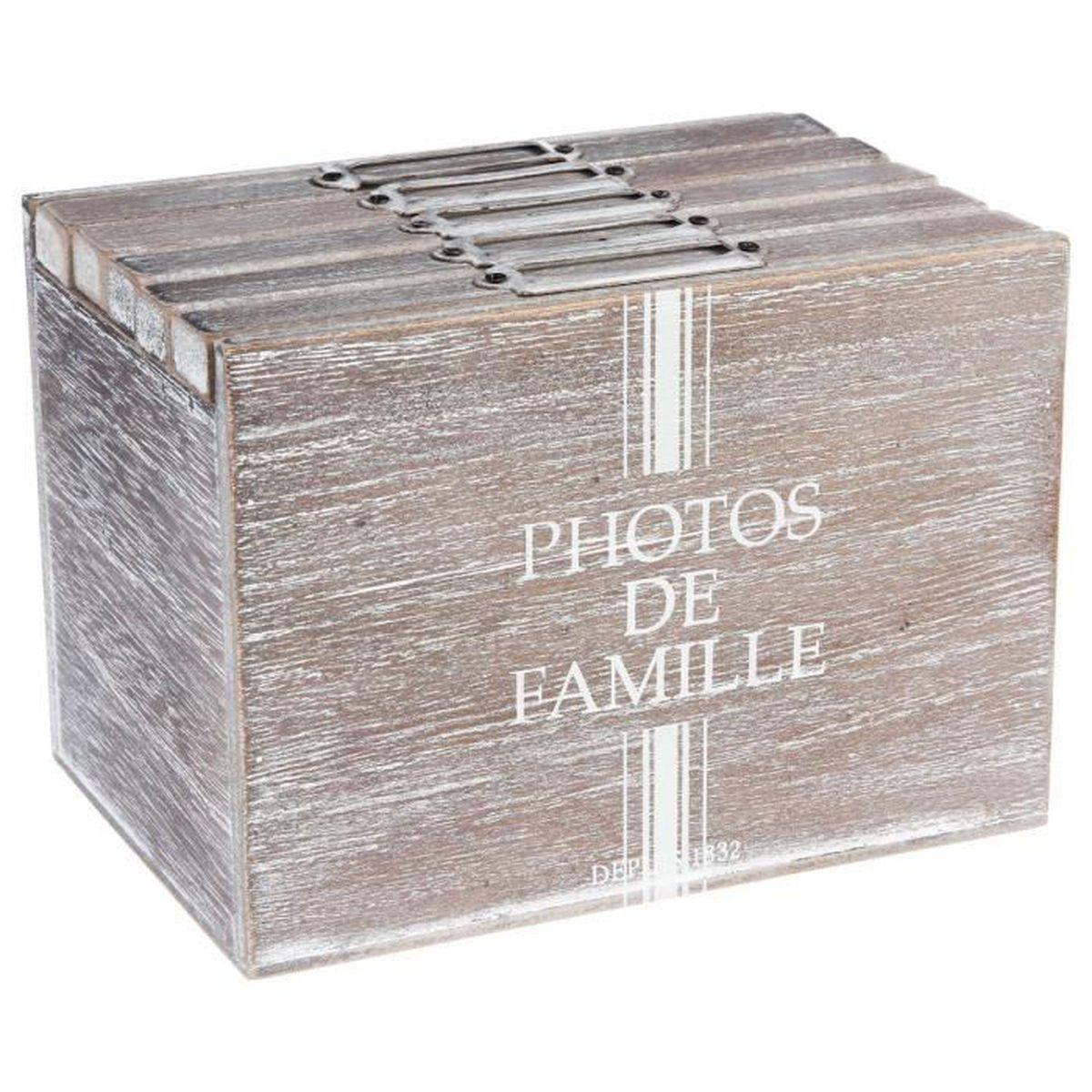 boite rangement photo achat vente boite rangement photo pas cher les soldes sur cdiscount. Black Bedroom Furniture Sets. Home Design Ideas