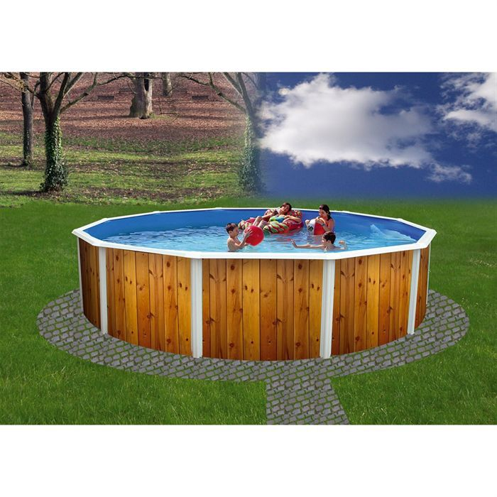 Veta piscine en acier circulaire 460x120 achat vente for Liner piscine acier ronde
