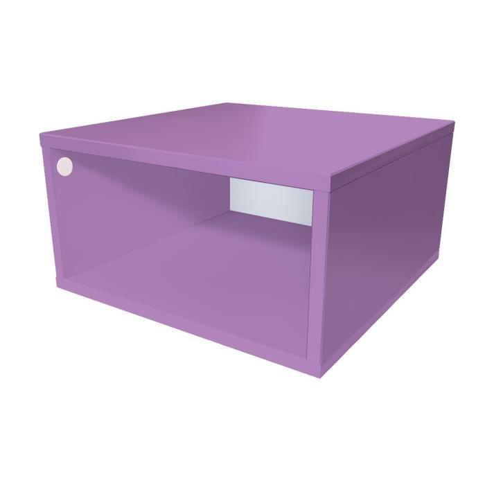 cube de rangement bois largeur 50 cm achat vente petit meuble rangement cube de rangement. Black Bedroom Furniture Sets. Home Design Ideas
