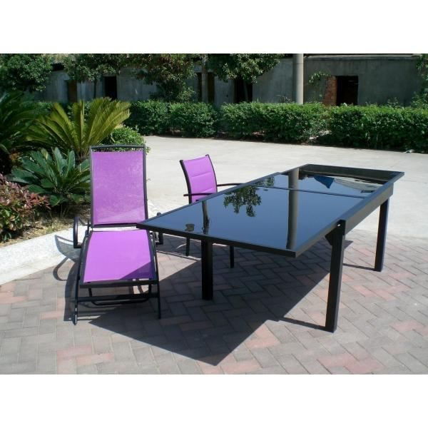 Table modulo noire 6 10 personnes achat vente table de for Table 6 10 personnes