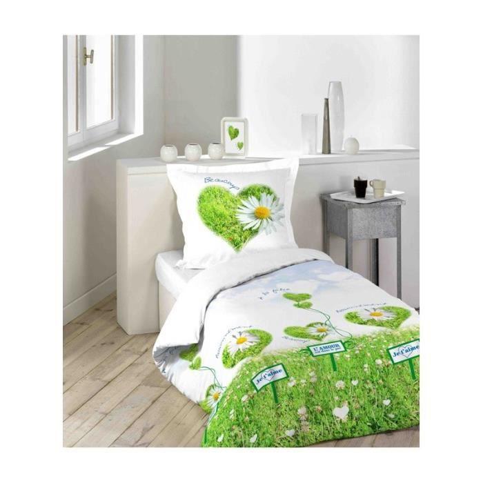 l 39 amour est dans le pre housse de couette 140x200 cm 1. Black Bedroom Furniture Sets. Home Design Ideas