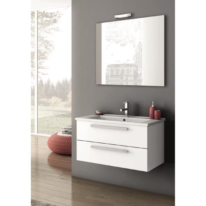 Ada meuble pour salle de bains avec vier et miroir avec for Evier salle de bain