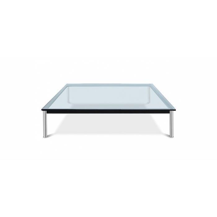Table basse en verre lc10 inspir e le corbusier achat for Le corbusier meuble