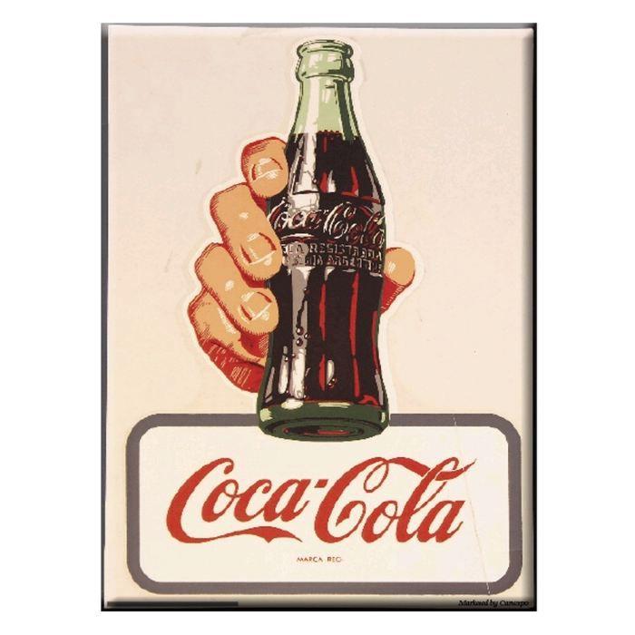 plaque affiche pub coca cola take it achat vente affiche m tal soldes d t cdiscount. Black Bedroom Furniture Sets. Home Design Ideas