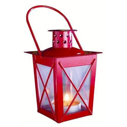 photophore lanterne bougie rouge poser ou suspendre. Black Bedroom Furniture Sets. Home Design Ideas