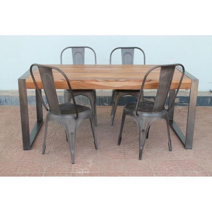 chaise metallique industrielle - achat / vente chaise metallique ... - Chaise Metal Industriel Pas Cher
