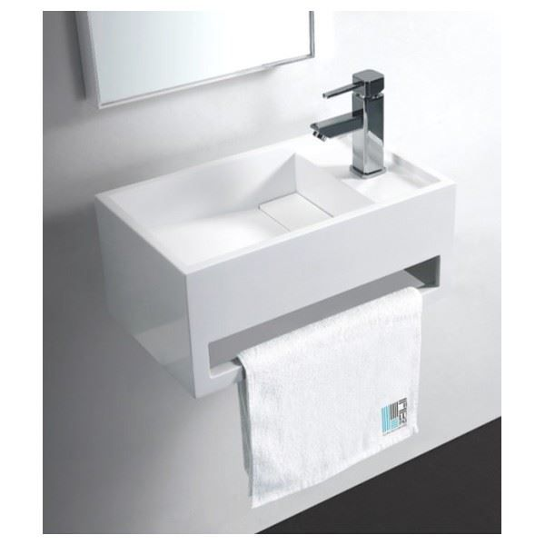 Lave main 50 cm solid surface wishe achat vente evier for Lave main cuisine