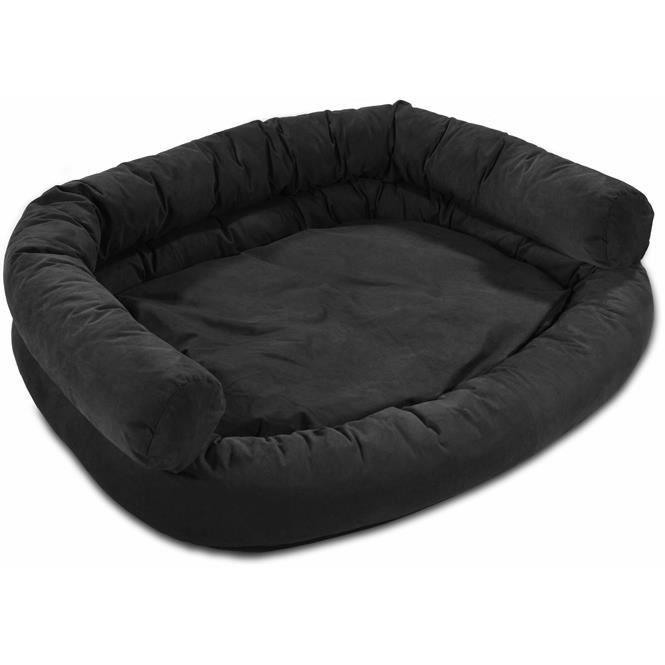 knuffelwuff canap pour chien luxor xxl 115 x 100cm noir. Black Bedroom Furniture Sets. Home Design Ideas