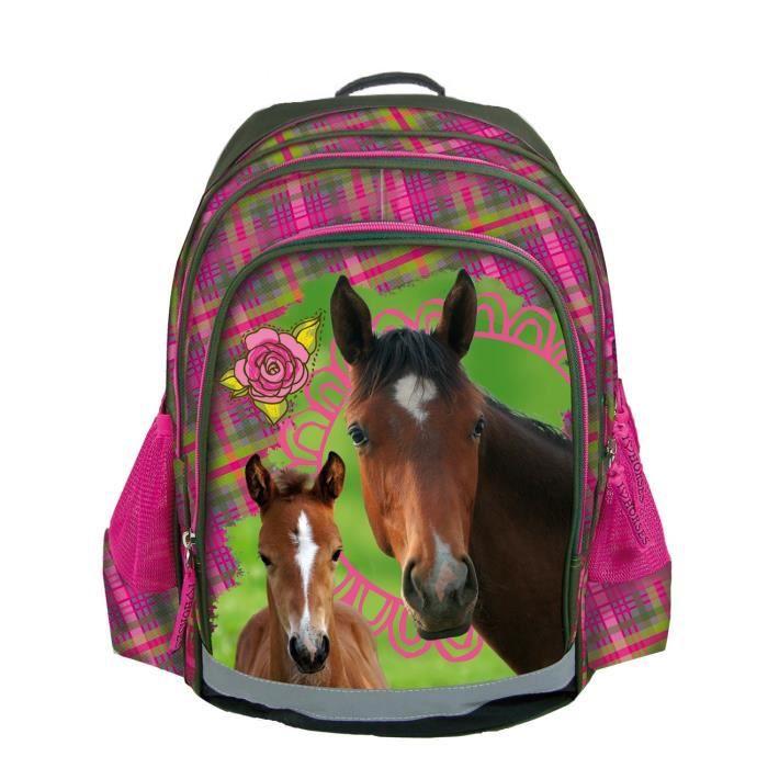 chevaux sac a dos cartable ecole nouveaut cheval poney horses achat vente sac dos. Black Bedroom Furniture Sets. Home Design Ideas