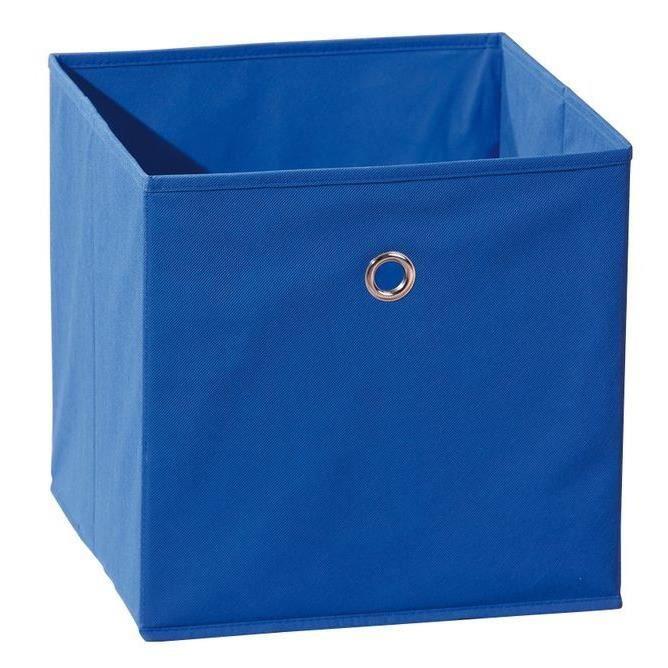 boite casier de rangement winny bleu achat vente boite. Black Bedroom Furniture Sets. Home Design Ideas