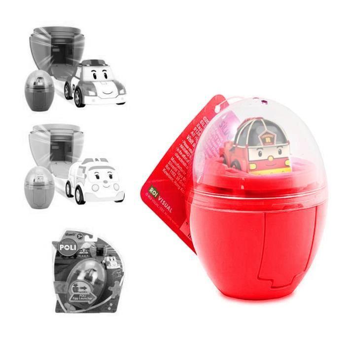 Oeuf lance v hicule robocar poli roy coloris unique - Robocar poli pompier ...