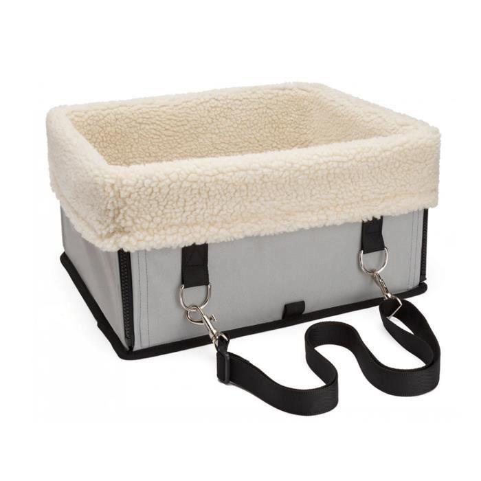 coffre si ge auto pliable etanche pour chien chat petits animaux voiture voyage gris achat. Black Bedroom Furniture Sets. Home Design Ideas