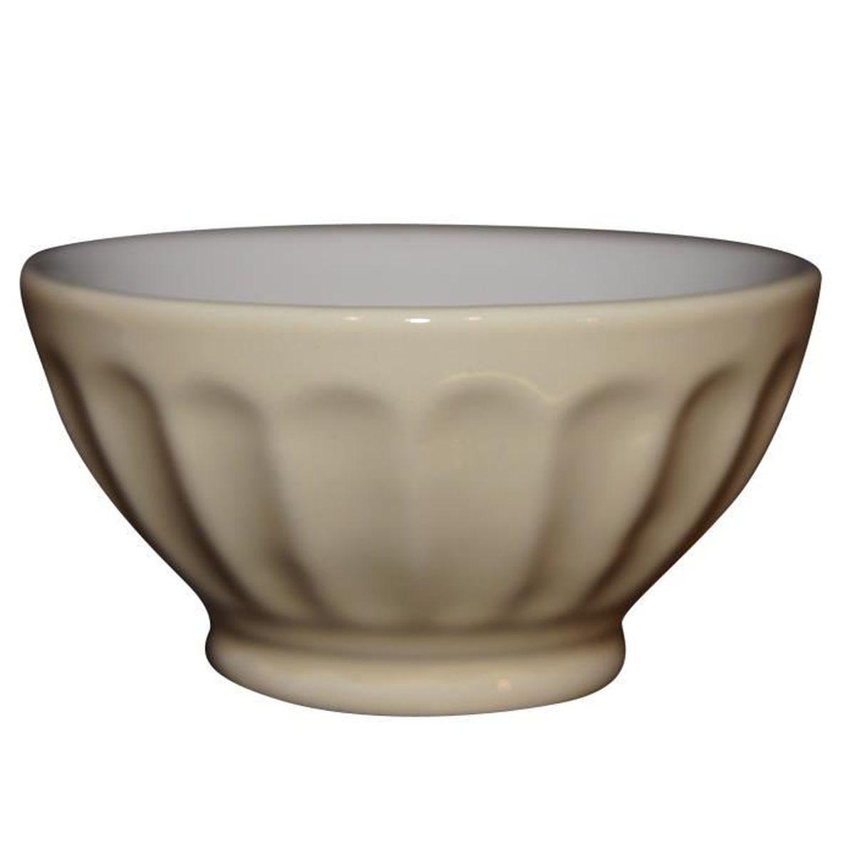 Bol facettes en porcelaine 9 cm ivoire achat for Art de la table vannes