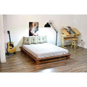lit complet futon achat vente lit complet futon pas cher soldes cdiscount. Black Bedroom Furniture Sets. Home Design Ideas