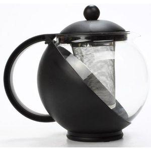 CAFETIÈRE - THÉIÈRE Théière boule avec filtre amovible Inox - Noir
