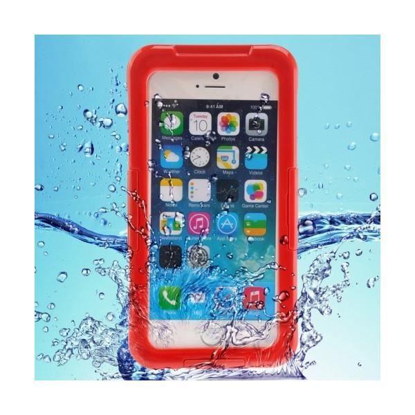 ip68 coque de protection waterproof avec cordon pour iphone 6 plus rouge achat vente ip68. Black Bedroom Furniture Sets. Home Design Ideas