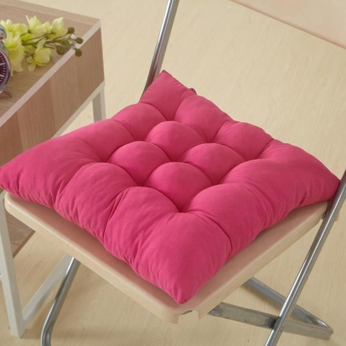 1 galettes de chaise coussin de chaise assise matelass e double 40x40cm rose achat. Black Bedroom Furniture Sets. Home Design Ideas