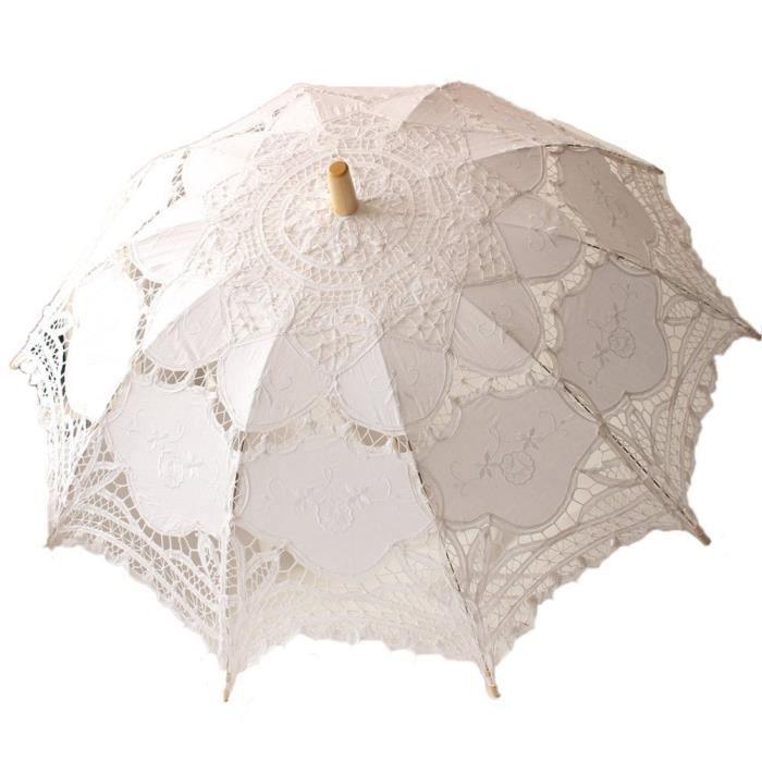 r tro palais style dentelle blanche ombrelle d coration de mariage pour les femmes achat. Black Bedroom Furniture Sets. Home Design Ideas