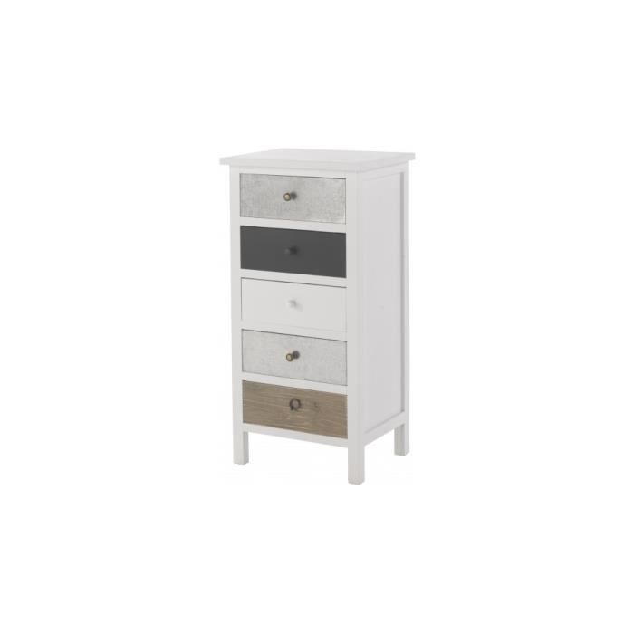 semainier sapin laqu blanc 5 tiroirs assortis achat vente chiffonnier semainier semainier. Black Bedroom Furniture Sets. Home Design Ideas