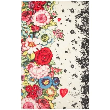 drap de bain desigual lovely garden nc achat vente serviettes de bain cadeaux de no l. Black Bedroom Furniture Sets. Home Design Ideas