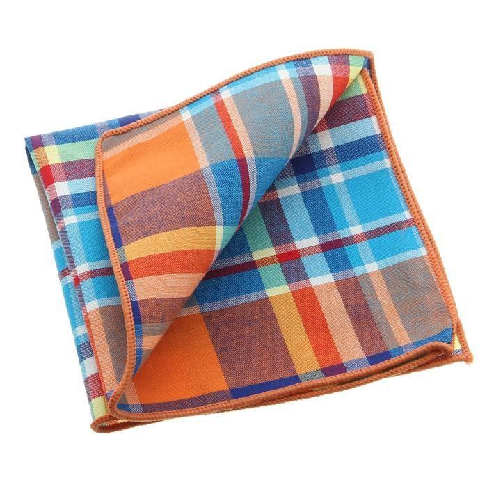 Vintage pochette de costume serviette mouchoir de poche - Serviette de bureau pour homme ...