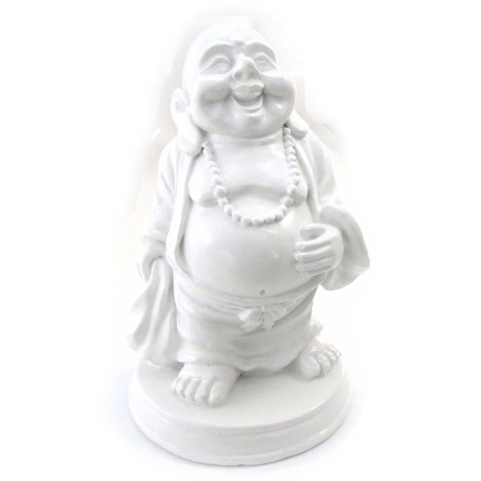 Figurine Bouddha Porte Bonheur Blanc Achat Vente
