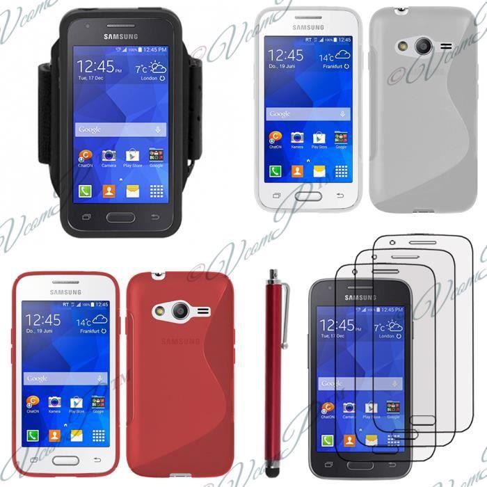 Pour samsung galaxy trend 2 lite sm g318h rouge lot coque etui housse pochette accessoires - Accessoires samsung galaxy trend lite ...
