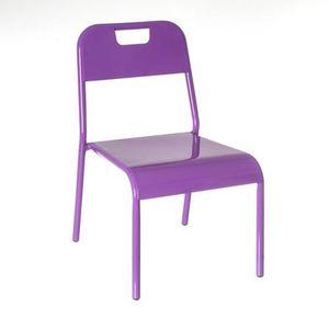 CHAISE Chaise enfant Design - Métal - Violet