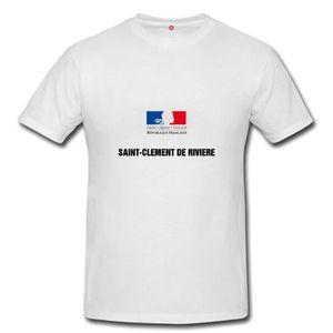 T-SHIRT T-shirt saint clement de riviere homme et femme un