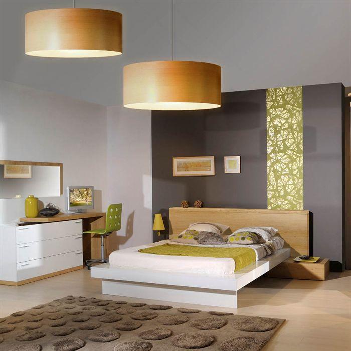 Woodao lit 160x200cm avec t te de lit en bois achat vente structure de li - Tete de lit discount ...