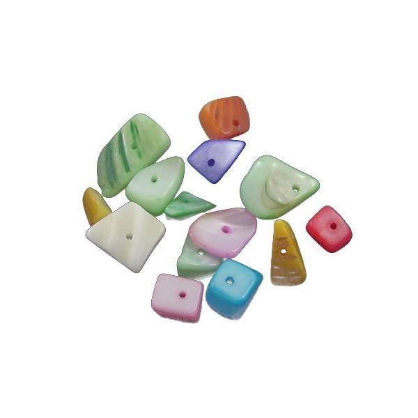 assortiment de perles en nacre 10 pi ces achat vente perles assortiment de perles en nacre. Black Bedroom Furniture Sets. Home Design Ideas
