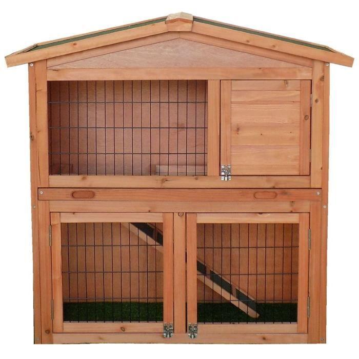 clapier grand espace cage lapin en bois cabane pour lapin ou rongeur achat vente. Black Bedroom Furniture Sets. Home Design Ideas