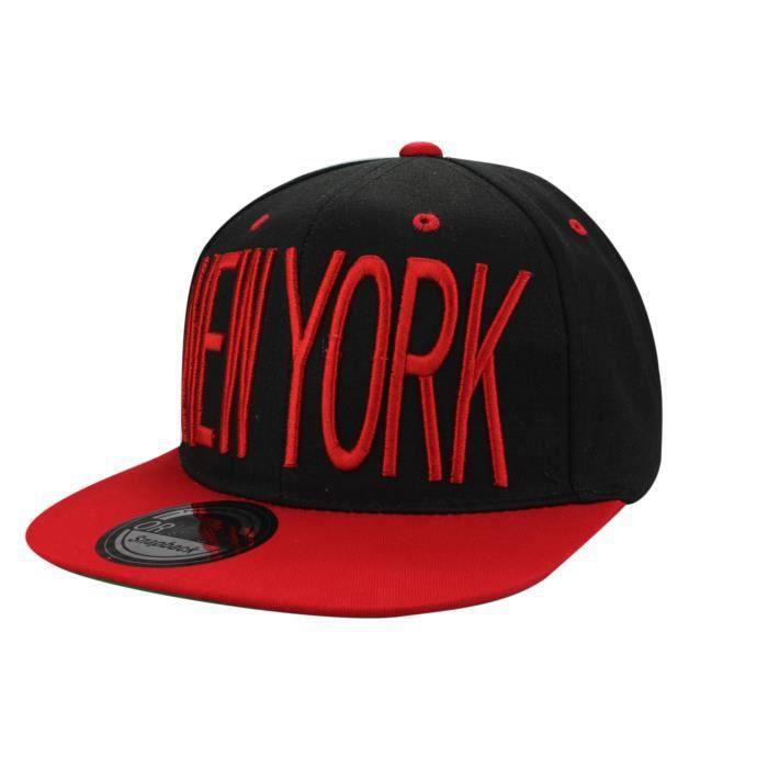 casquette new york miami en noir rouge noir achat vente casquette 2009965465396 cdiscount. Black Bedroom Furniture Sets. Home Design Ideas