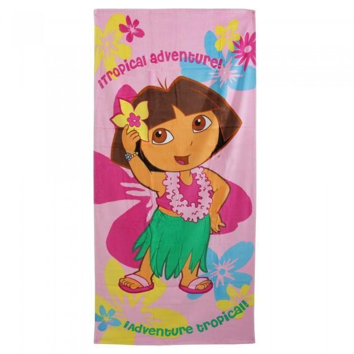 Dora l 39 exploratrice serviette de plage 100 coton - Dora a la plage ...