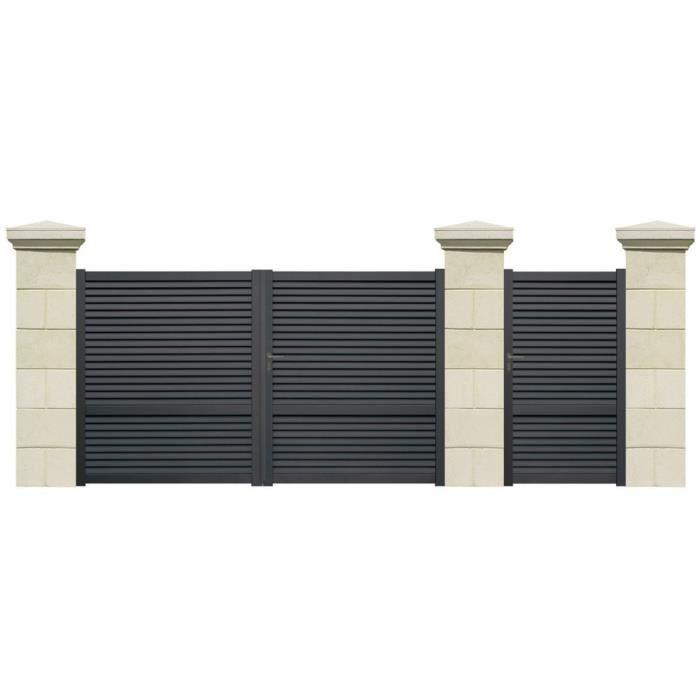 Portail battant capelan aluminium 3 m achat vente portail portillon portail battant Portail aluminium battant
