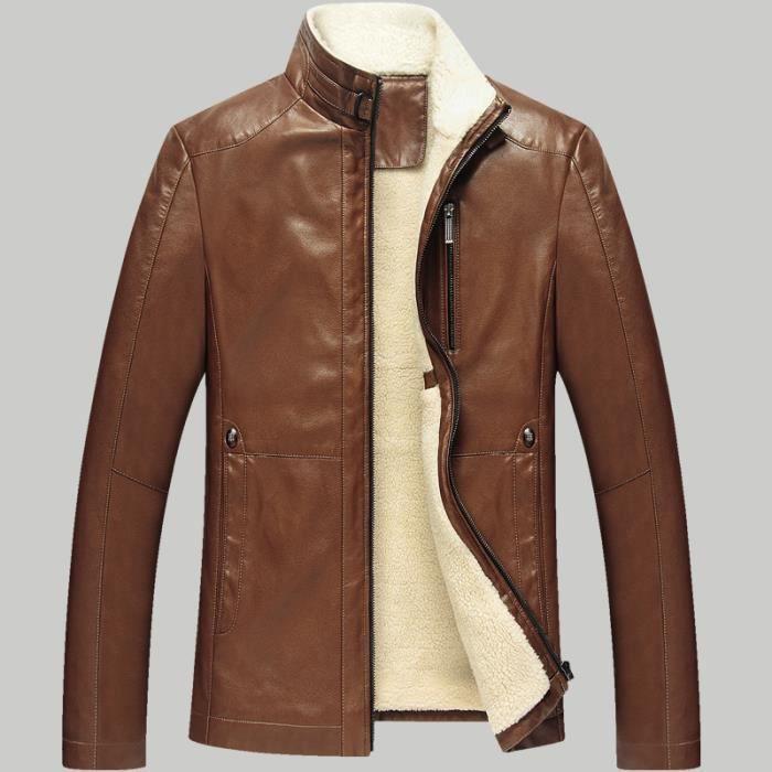 blouson cuir homme noir hiver marque manteau fourrure. Black Bedroom Furniture Sets. Home Design Ideas