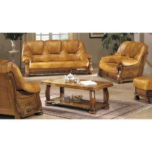 Fauteuil salon complet achat vente fauteuil salon complet pas cher cdis - Salon canape cuir complet ...