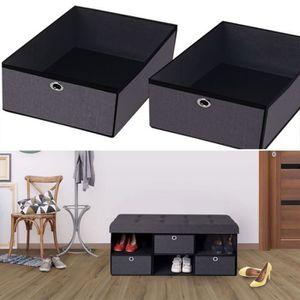 banc de rangement entree achat vente banc de rangement entree pas cher cdiscount. Black Bedroom Furniture Sets. Home Design Ideas