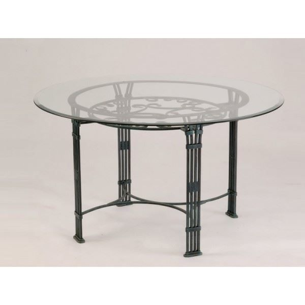 Table ronde fer forg ana s diam tre 110 cm achat for Table ronde fer forge
