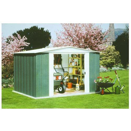 Abri de jardin en m tal gh107 6 60 m achat vente abri jardin chalet - Abri de jardin en tole galvanise ...