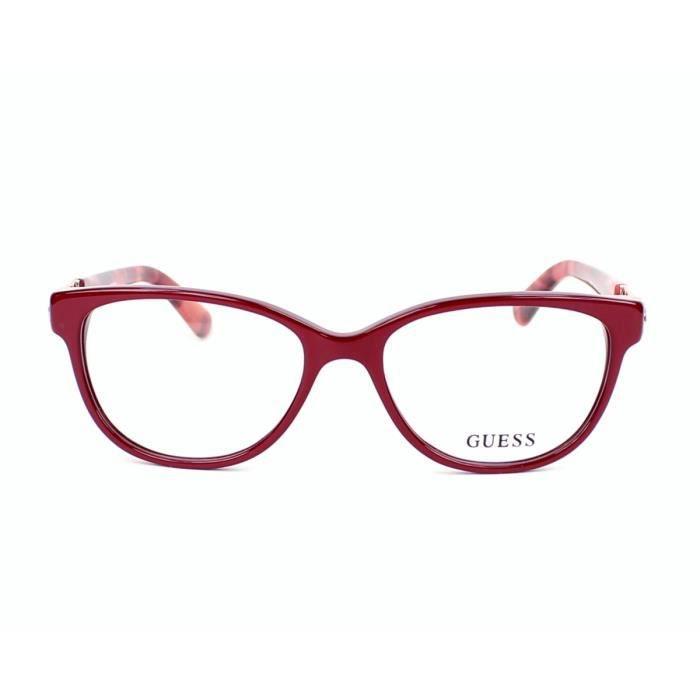 lunettes de vue guess gu2491 66 bordeaux rouge havane bordeaux rouge achat vente. Black Bedroom Furniture Sets. Home Design Ideas