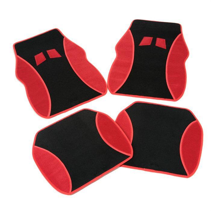 jeu de 4 tapis moquette modena achat vente tapis de sol 4 tapis moquette modena rouge. Black Bedroom Furniture Sets. Home Design Ideas