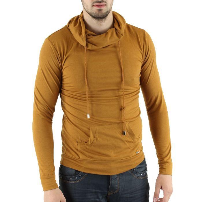 sweatshirt homme col roul marron marron achat vente sweatshirt sweatshirt homme col roul. Black Bedroom Furniture Sets. Home Design Ideas