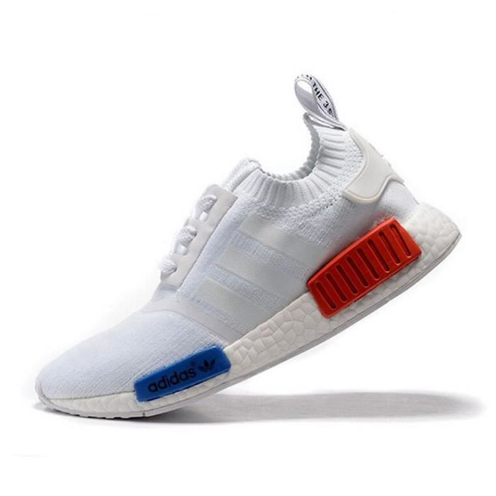 adidas nmd blanche rouge bleu
