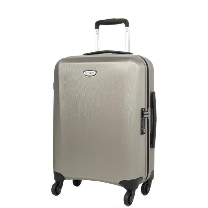 valise cabine samsonite klassik 55 cm beige gold achat. Black Bedroom Furniture Sets. Home Design Ideas