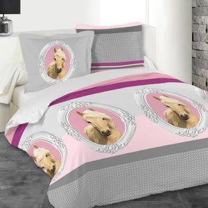parure de lit cheval achat vente parure de lit cheval pas cher cdiscount. Black Bedroom Furniture Sets. Home Design Ideas