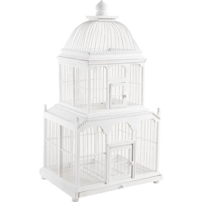 cage oiseaux en bambou laqu blanc achat vente voli re cage oiseau cage oiseaux en. Black Bedroom Furniture Sets. Home Design Ideas