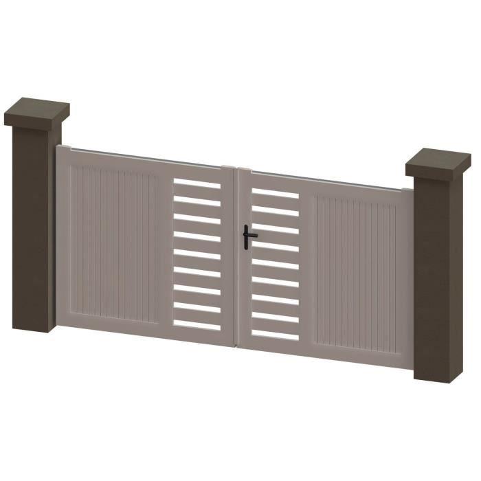 portail battant en pvc sati blanc 3m manuel achat. Black Bedroom Furniture Sets. Home Design Ideas