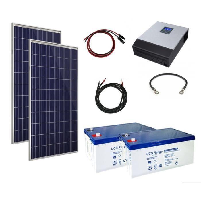 kit solaire autonome 230v 3kva avec modules solaires 2 x 260w achat vente kit photovoltaique. Black Bedroom Furniture Sets. Home Design Ideas